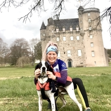 Canicross at Castle Fraser
